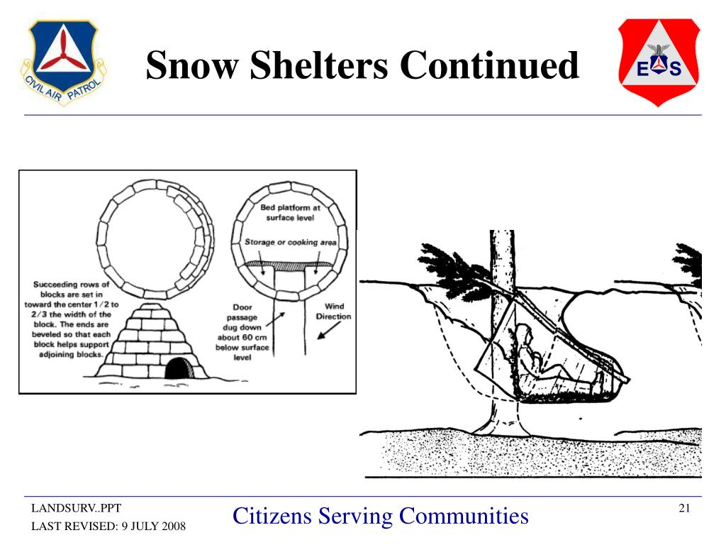 Snow Shelters Continued