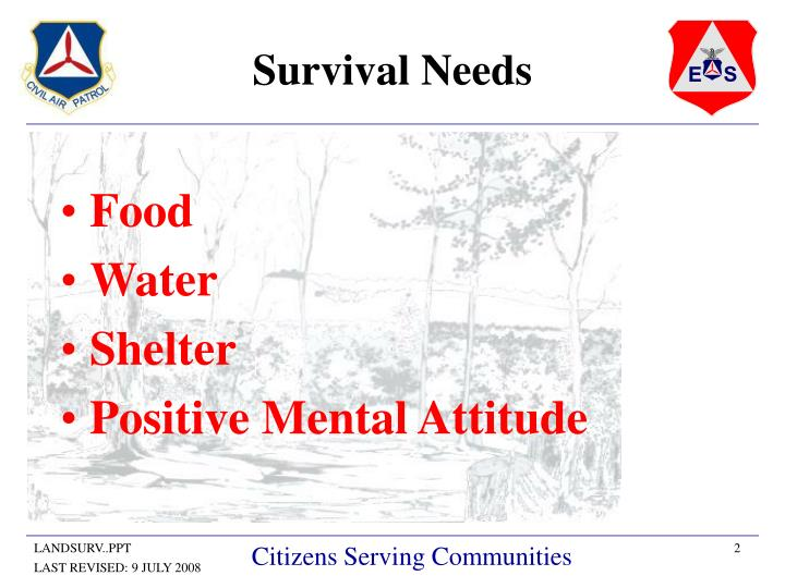 Survival needs