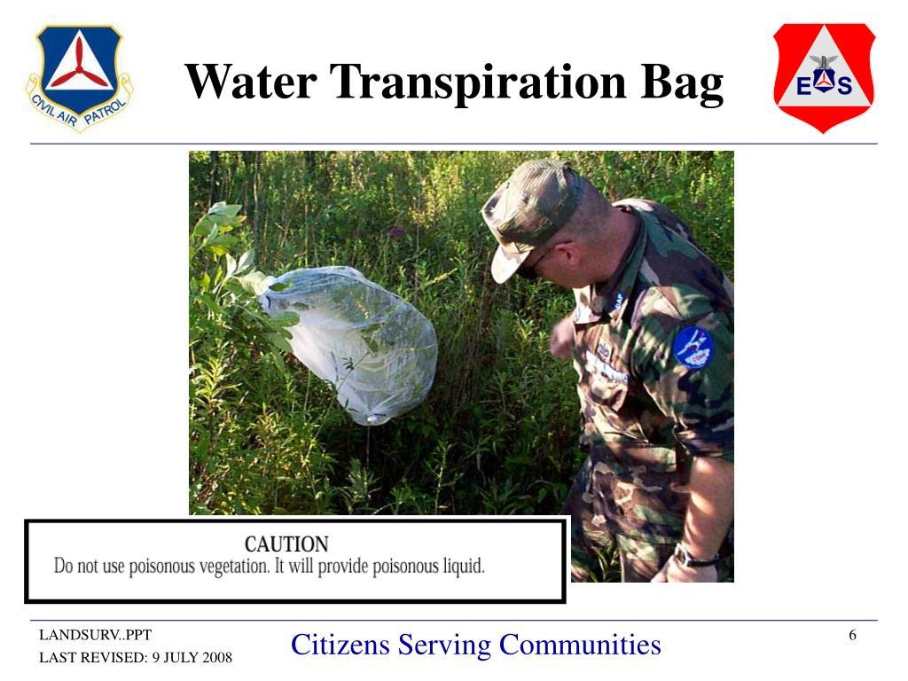 Water Transpiration Bag