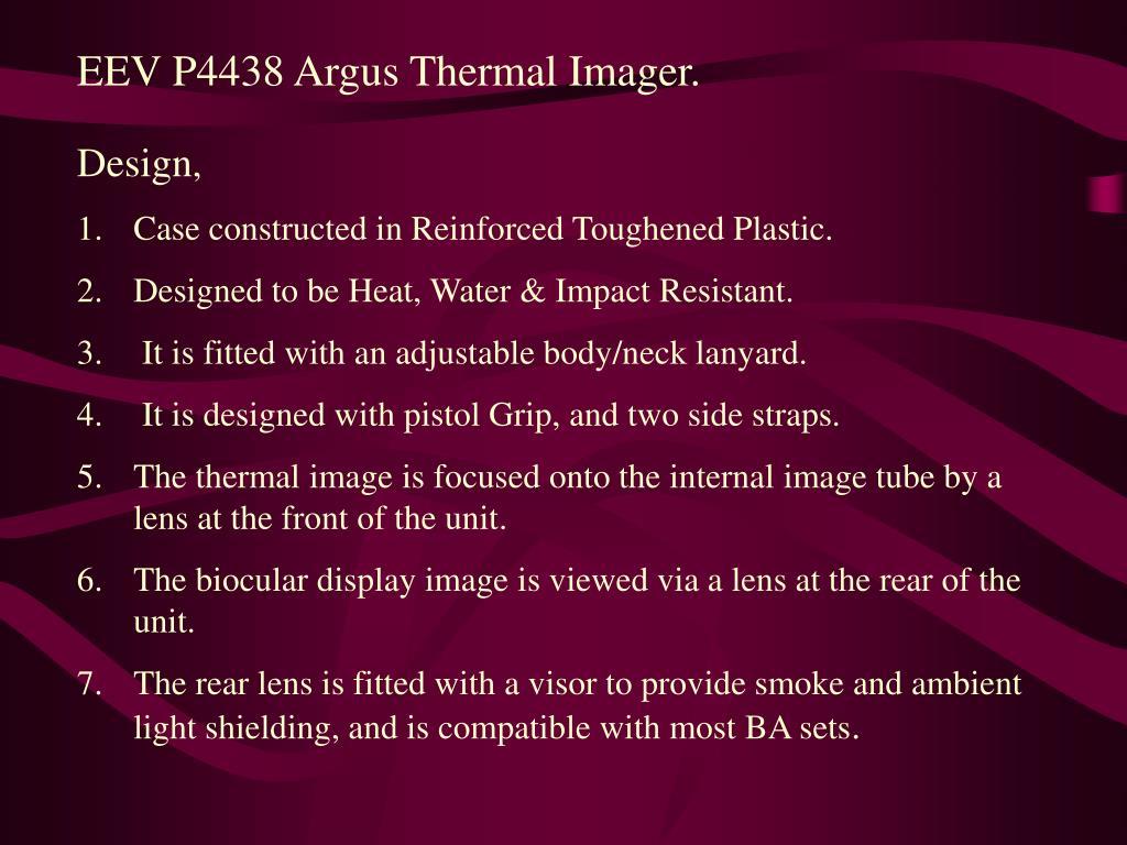 EEV P4438 Argus Thermal Imager.