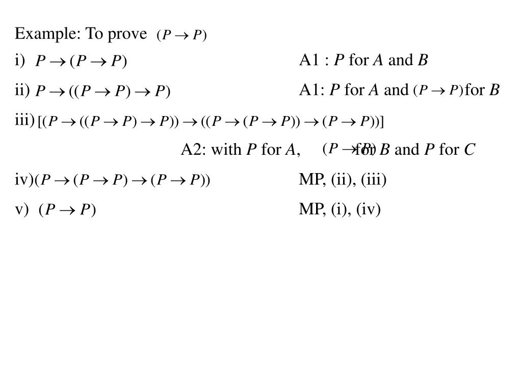 Example: To prove