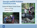 georgia green activities community events