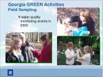 georgia green activities field sampling
