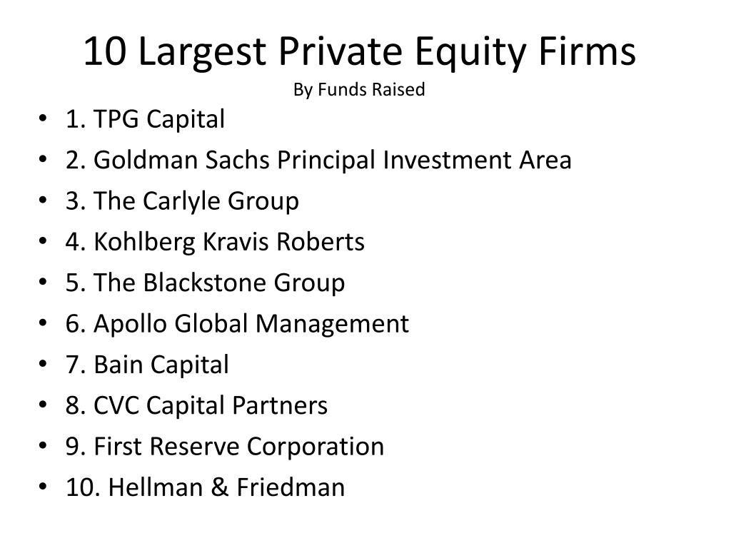 10 Largest Private Equity Firms