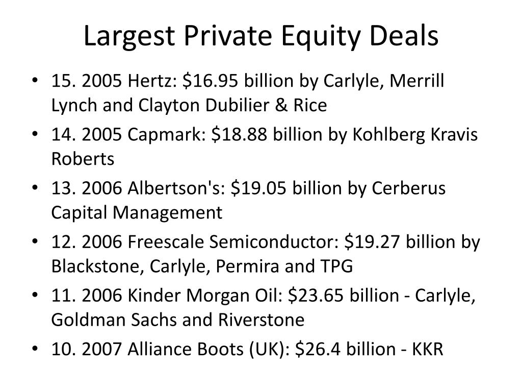 Largest Private Equity Deals