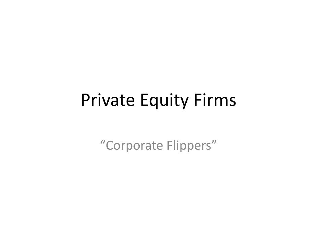 Private Equity Firms