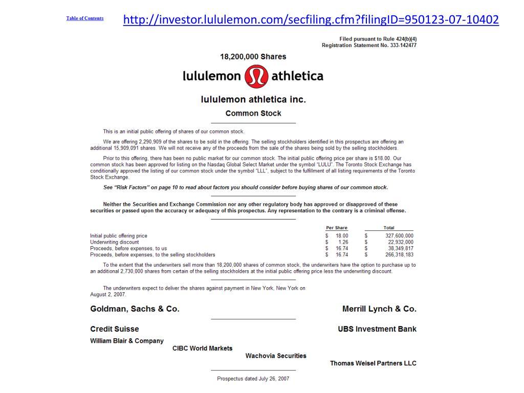 http://investor.lululemon.com/secfiling.cfm?filingID=950123-07-10402