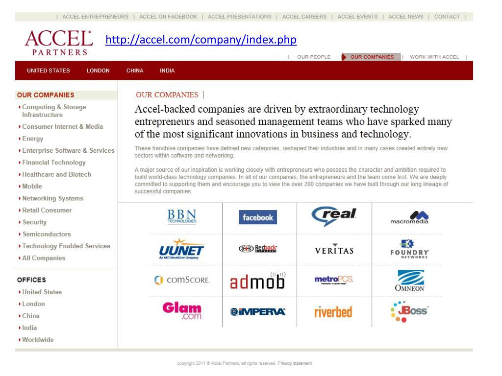 http://accel.com/company/index.php
