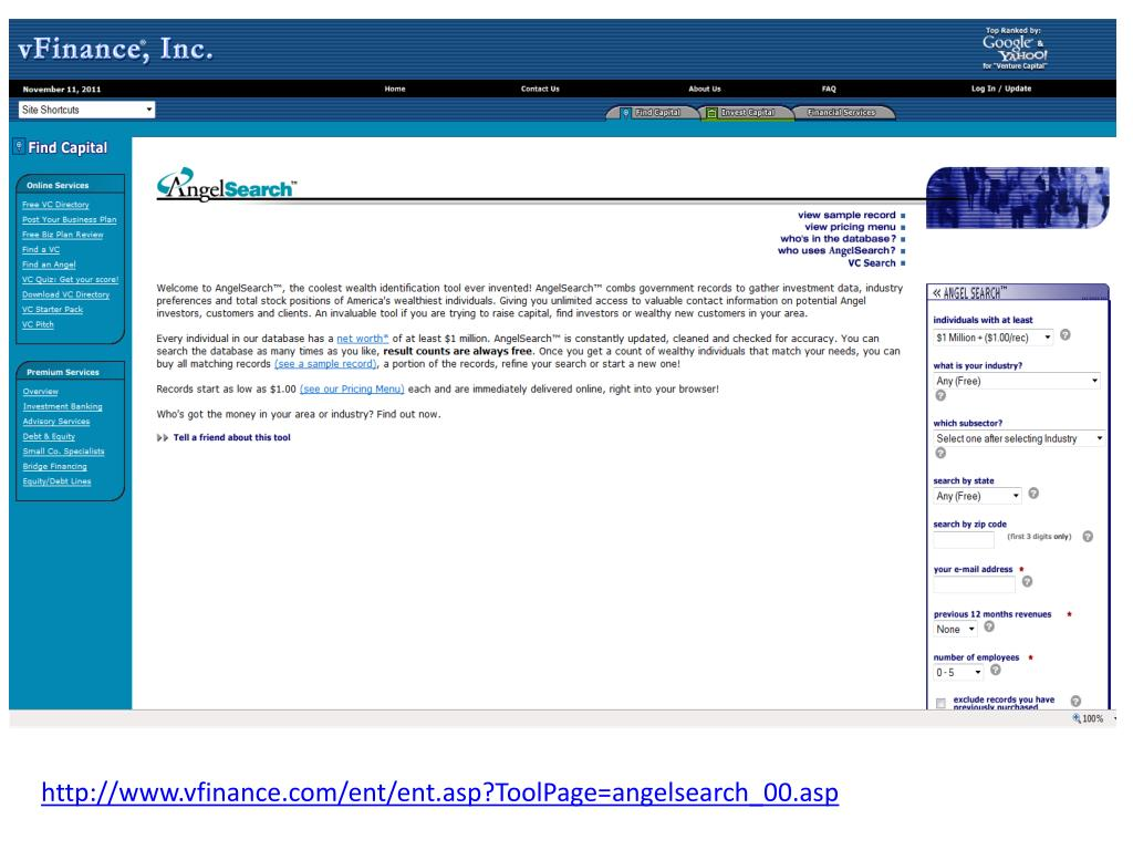 http://www.vfinance.com/ent/ent.asp?ToolPage=angelsearch_00.asp
