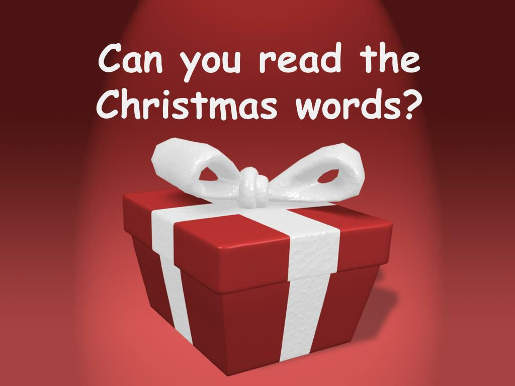 can you read the christmas words l.