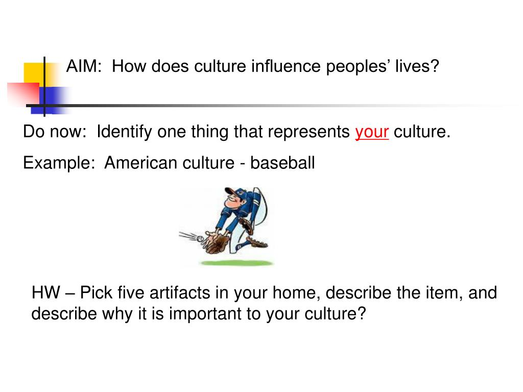 AIM:  How does culture influence peoples' lives?