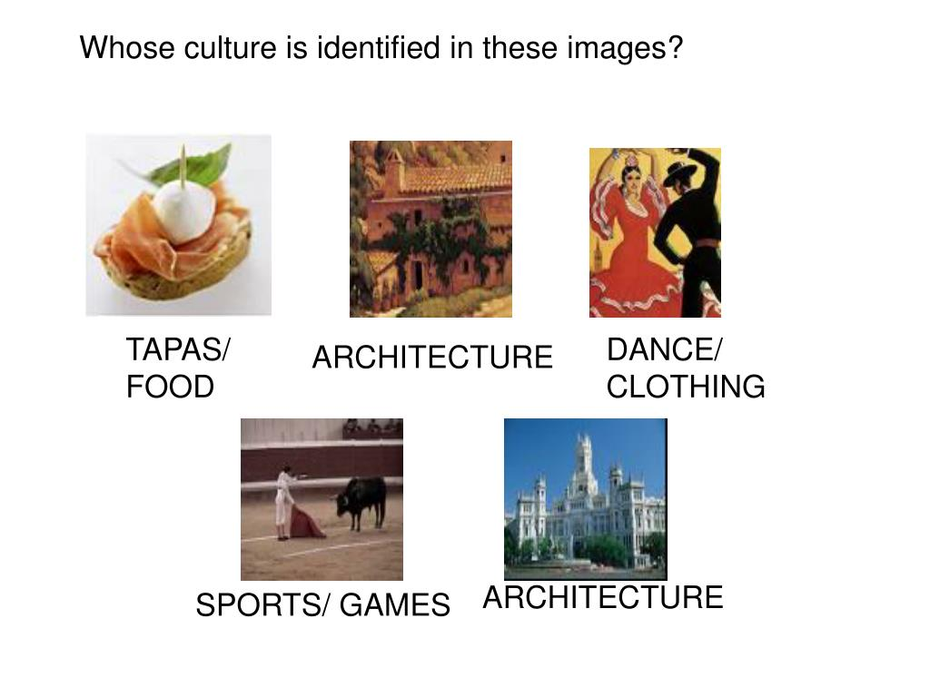 Whose culture is identified in these images?