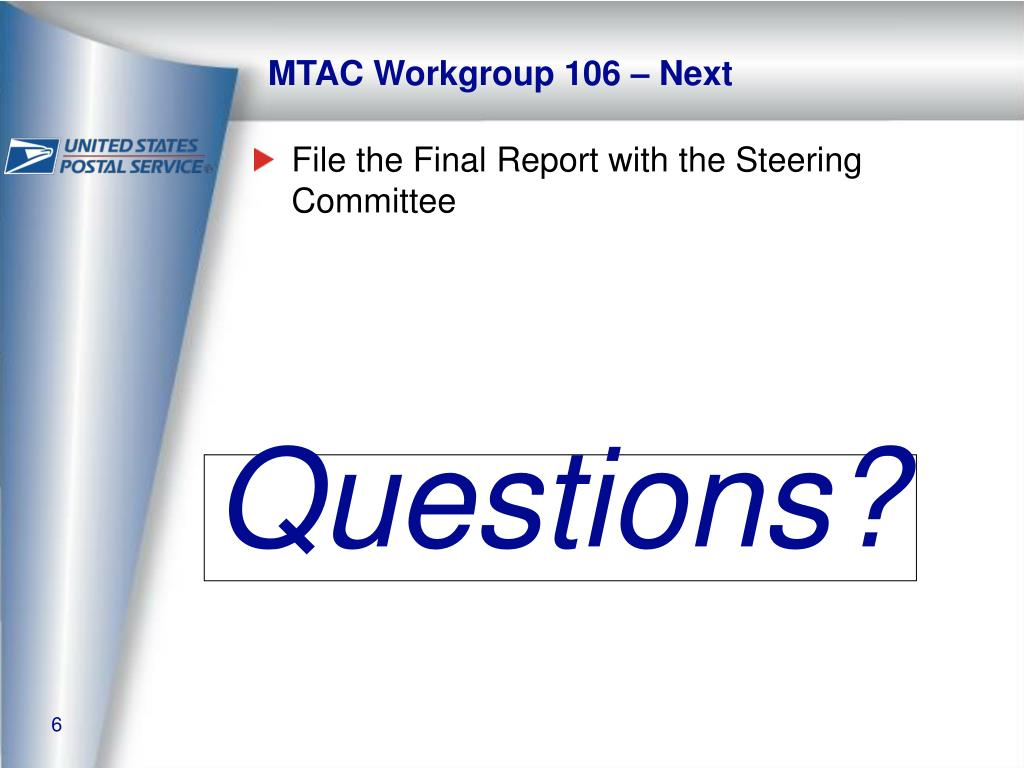 MTAC Workgroup 106 – Next