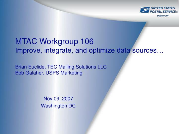 MTAC Workgroup 106