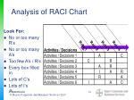 analysis of raci chart