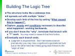 building the logic tree