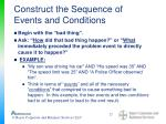 construct the sequence of events and conditions