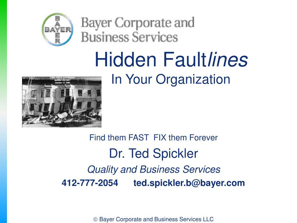 hidden fault lines in your organization