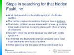steps in searching for that hidden faultline
