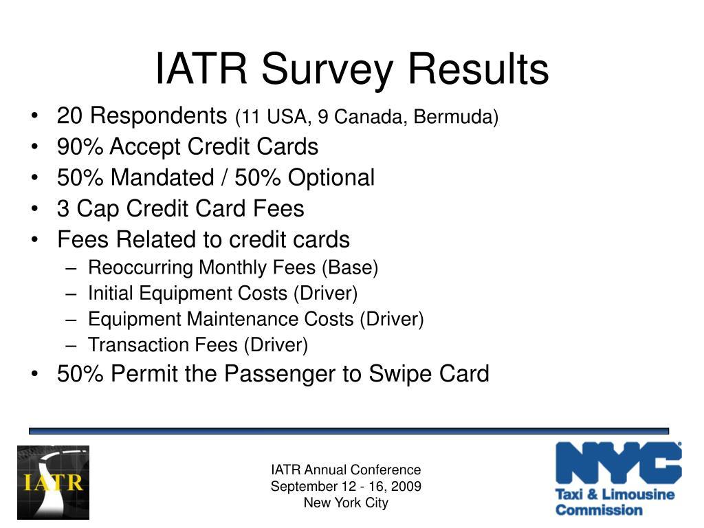IATR Survey Results