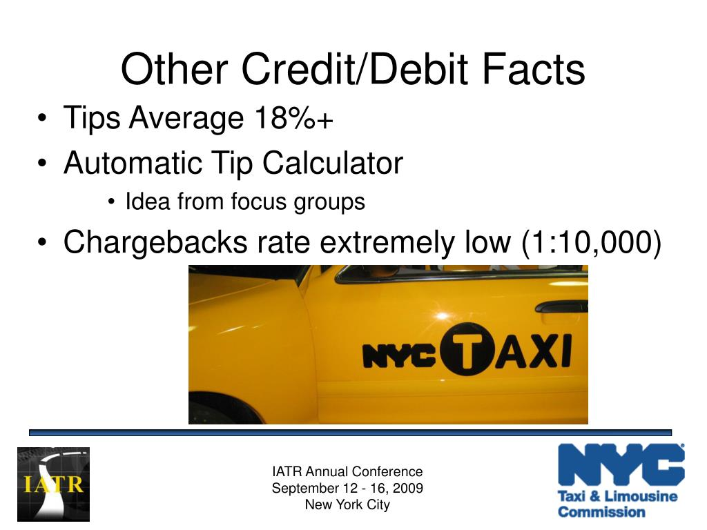 Other Credit/Debit Facts