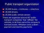 public transport organization