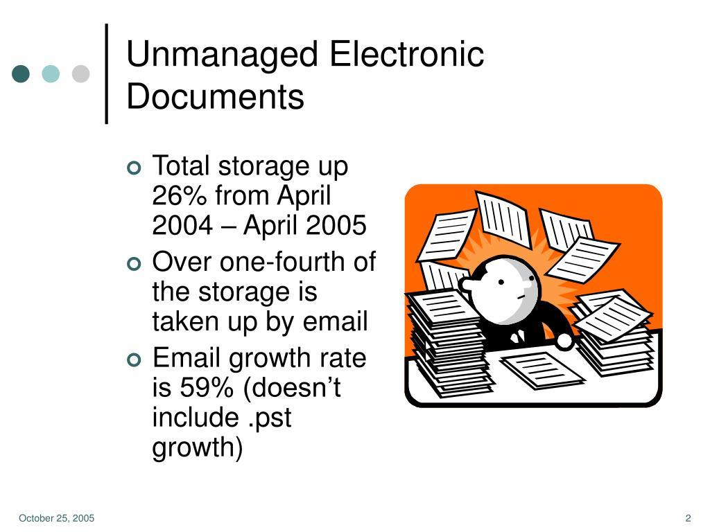 Unmanaged Electronic Documents
