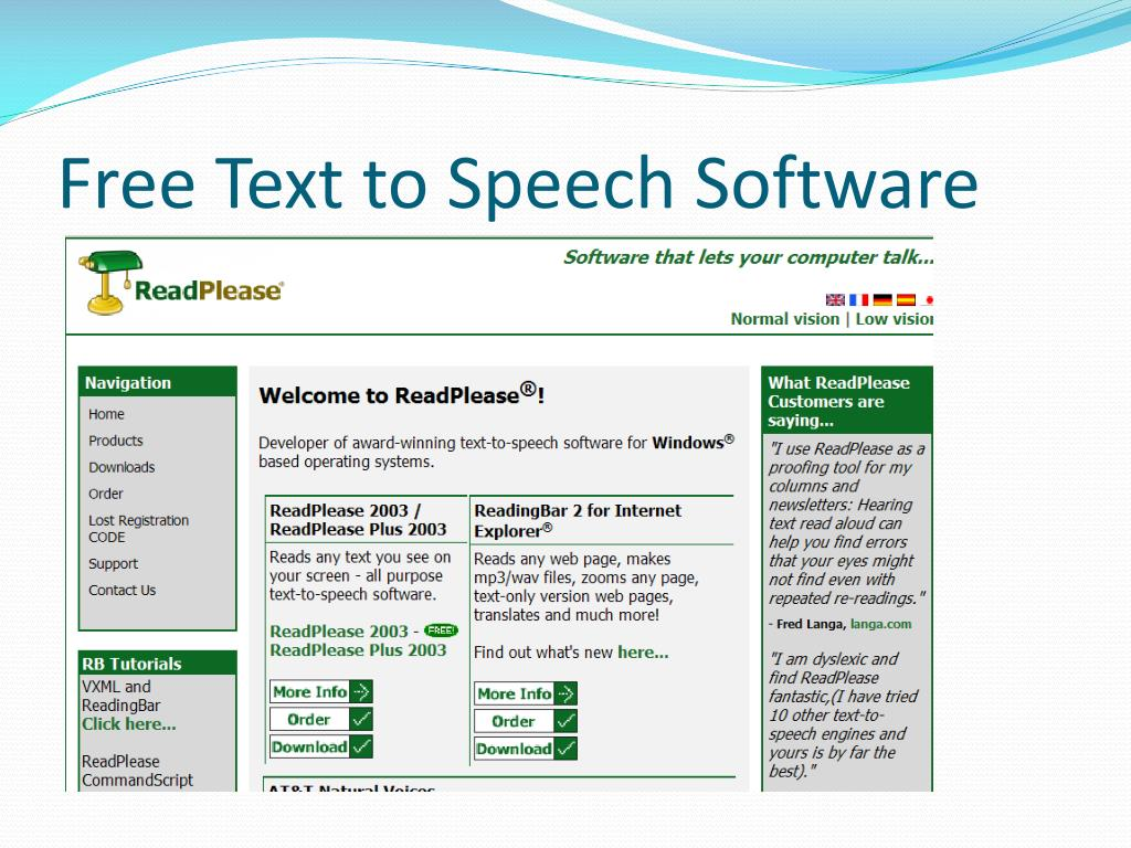 Free Text to Speech Software