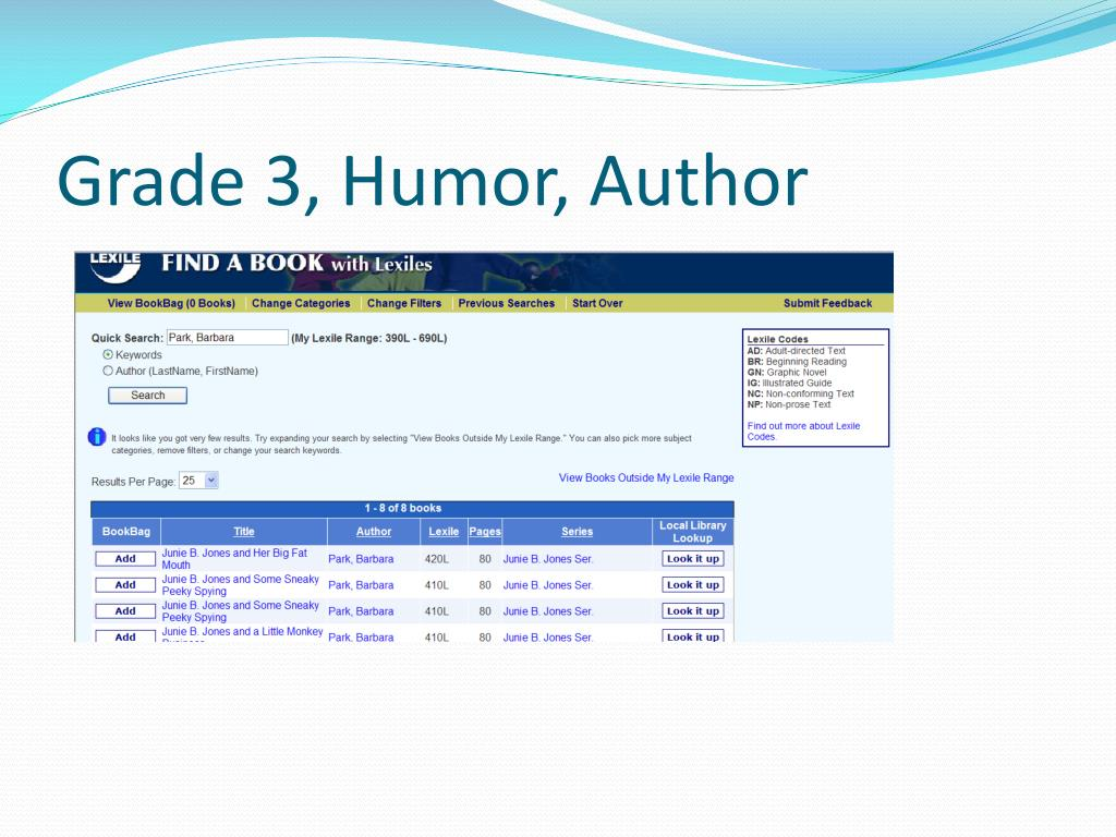 Grade 3, Humor, Author
