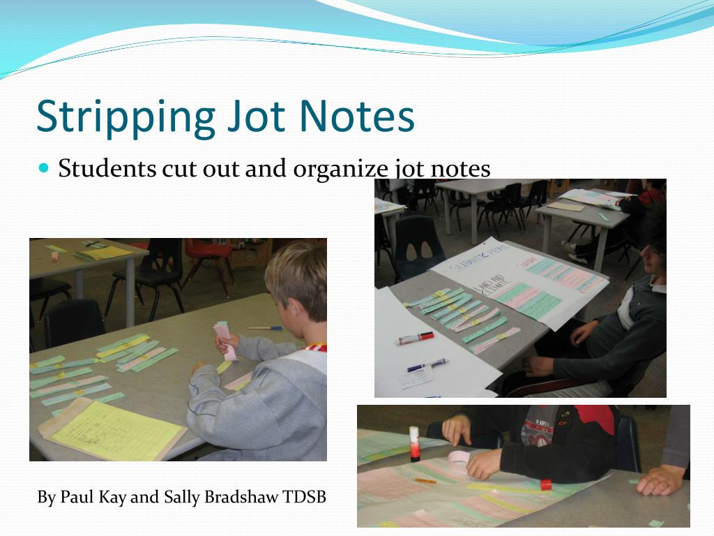 Stripping Jot Notes