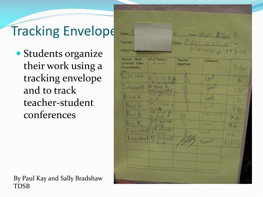 Tracking Envelopes