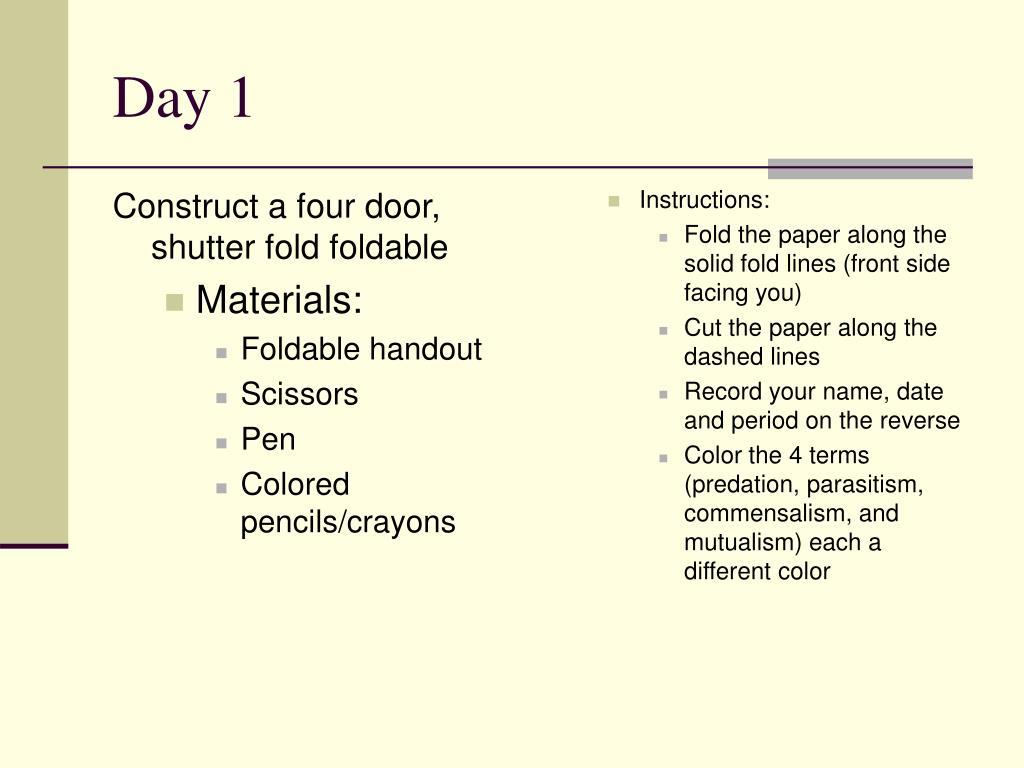 Construct a four door, shutter fold foldable