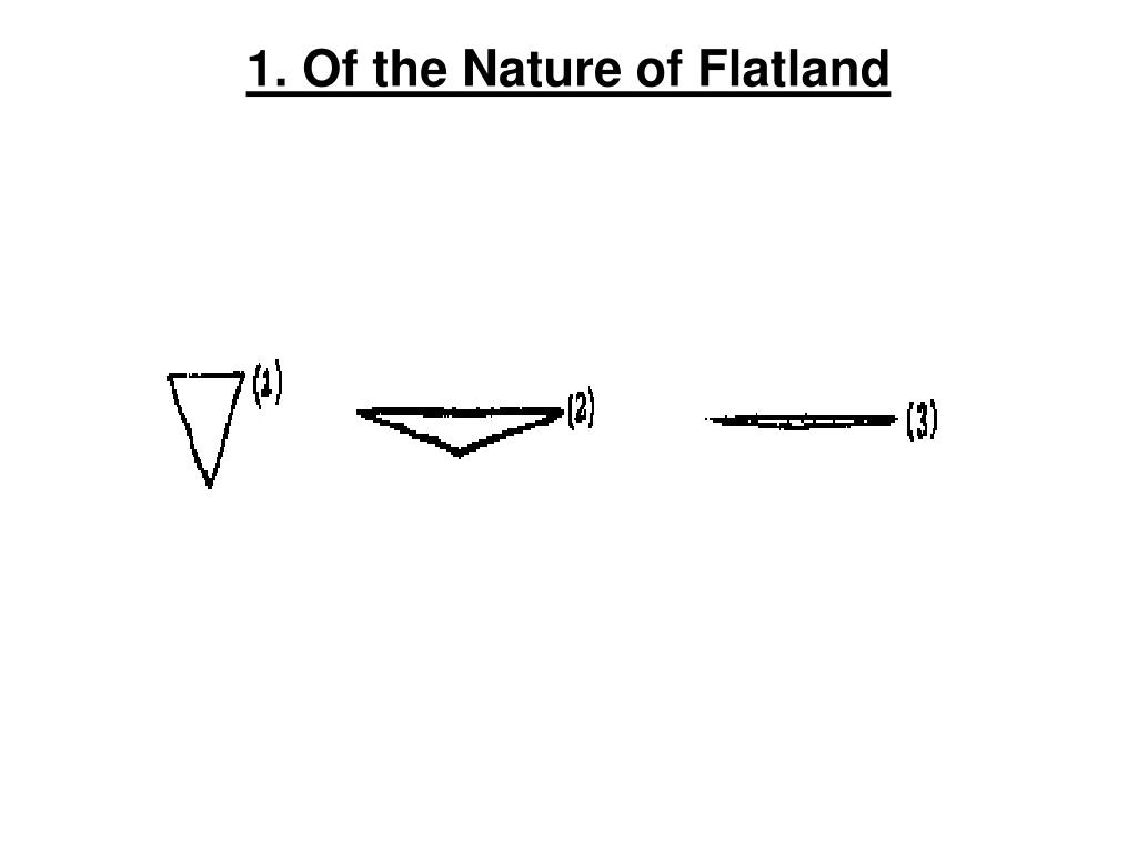 1. Of the Nature of Flatland