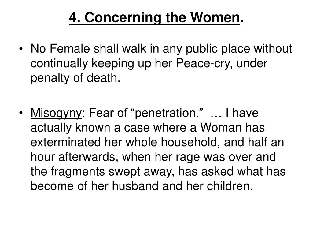 4. Concerning the Women