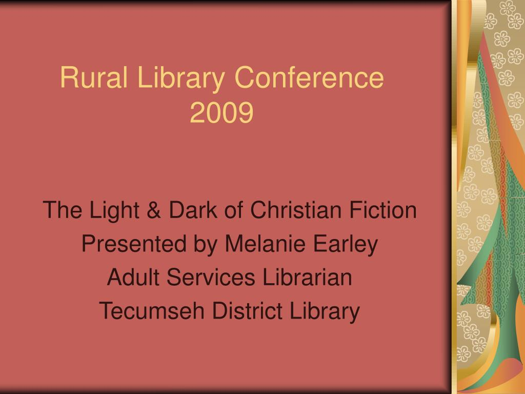 rural library conference 2009 l.