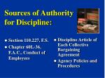 sources of authority for discipline