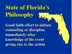 state of florida s philosophy