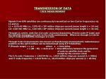 transmission of data code measurement