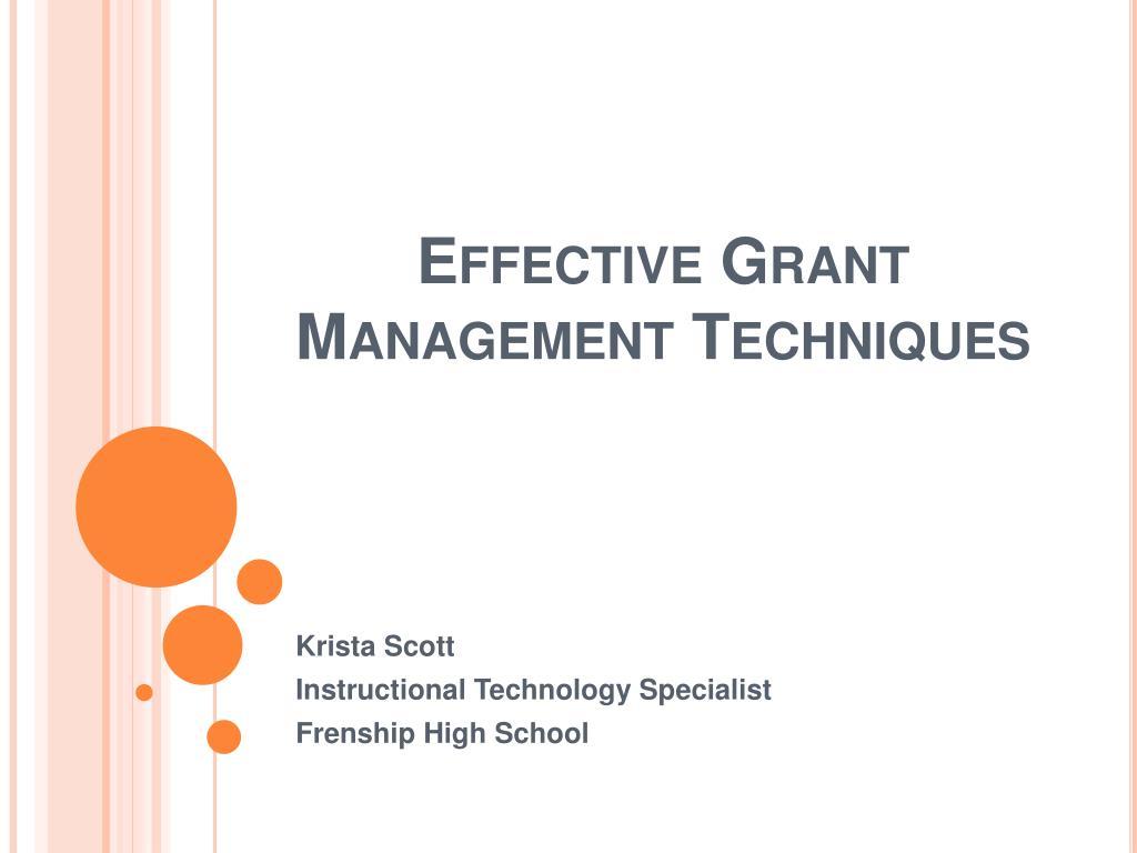 effective grant management techniques
