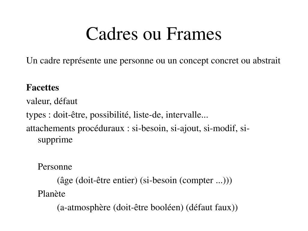 Cadres ou Frames