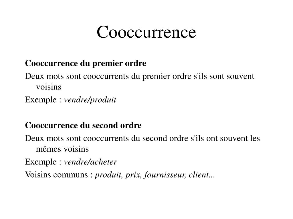 Cooccurrence