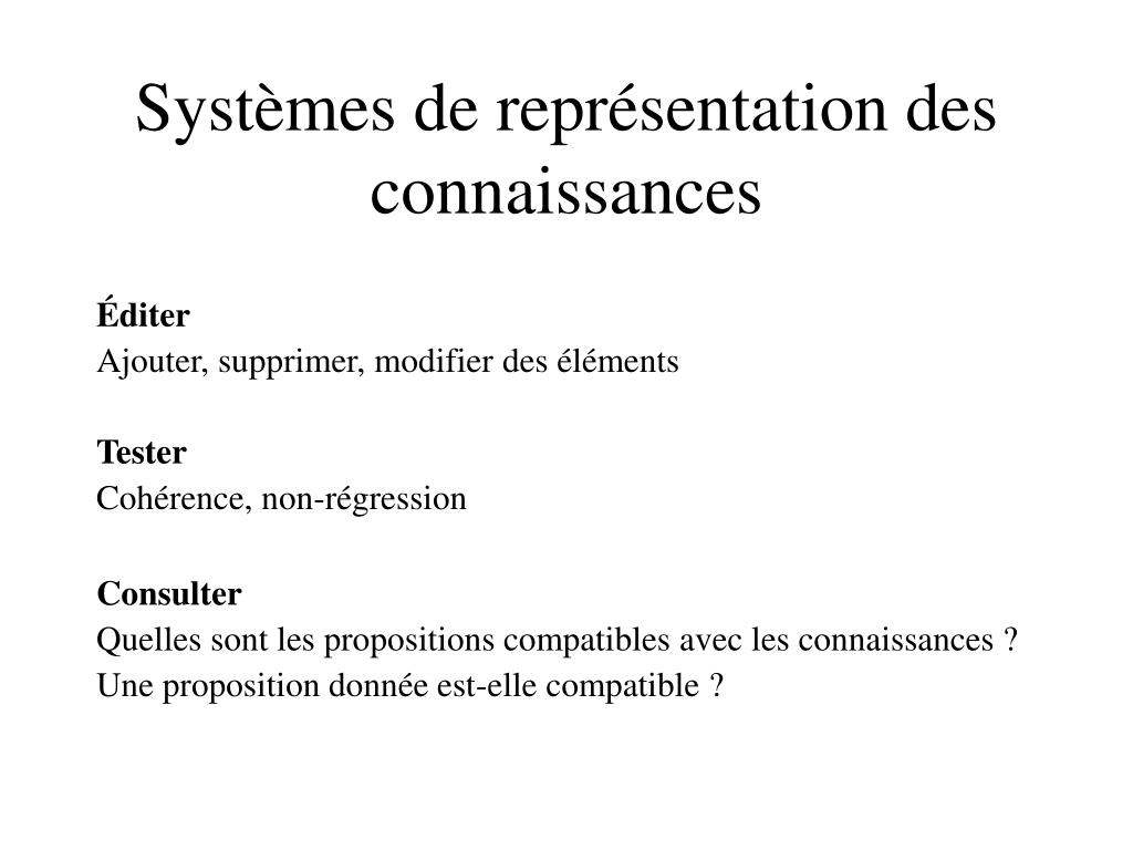 Systèmes de représentation des connaissances