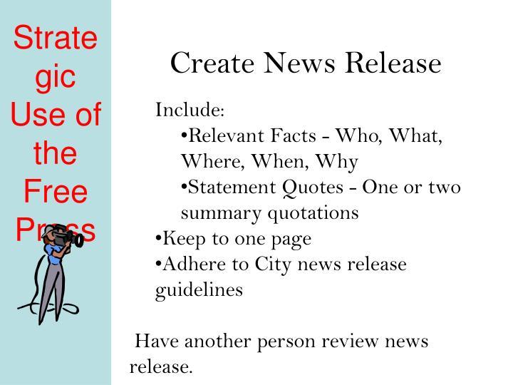Create News Release