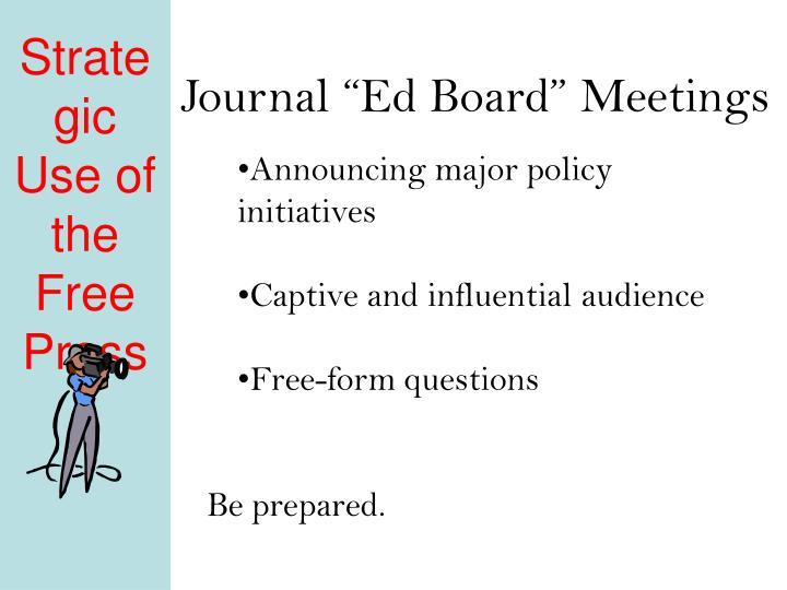 """Journal """"Ed Board"""" Meetings"""