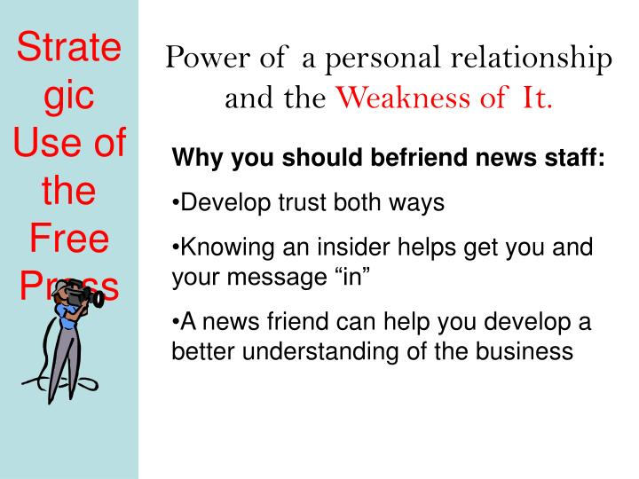 Power of a personal relationship