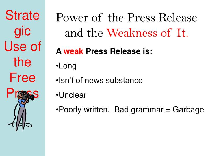 Power of the Press Release