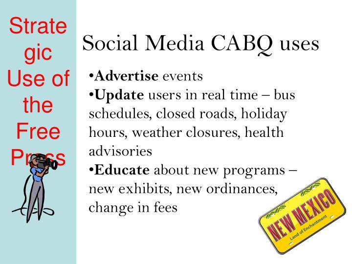 Social Media CABQ uses