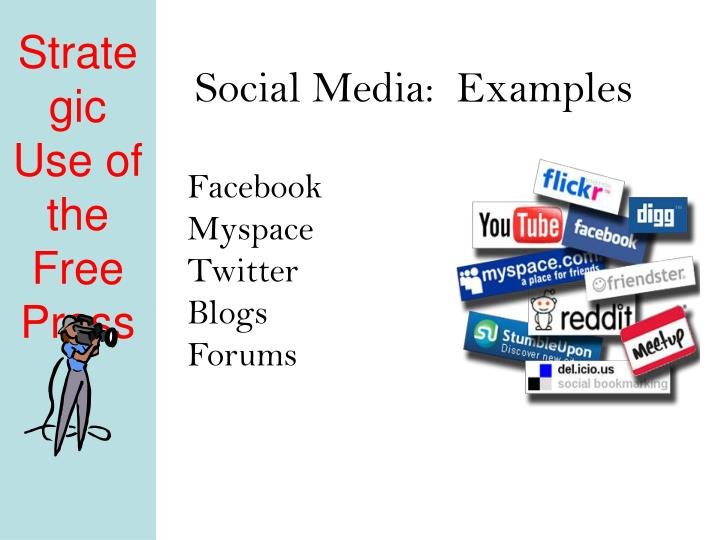Social Media:  Examples