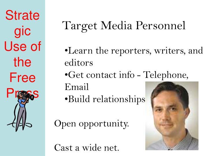 Target Media Personnel