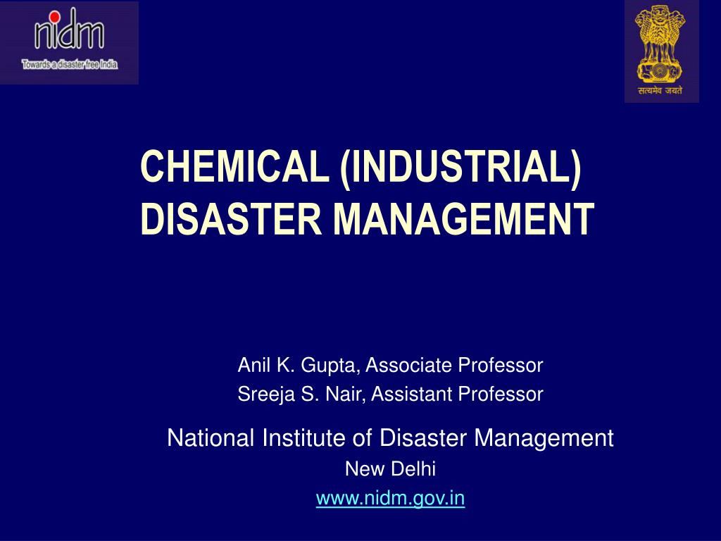 chemical industrial disaster management
